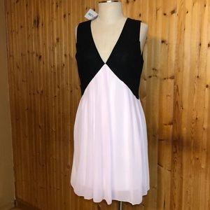 NWT Favolook Pink & Black Minidress size Medium